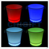Wholesale Clear Plastic LED Flashing Ice Bucket