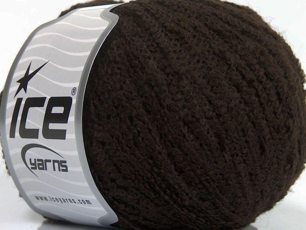 Lot of 8 Skeins Ice Yarns Sale Boucle (30% Mohair 60% Wool) Yarn Brown