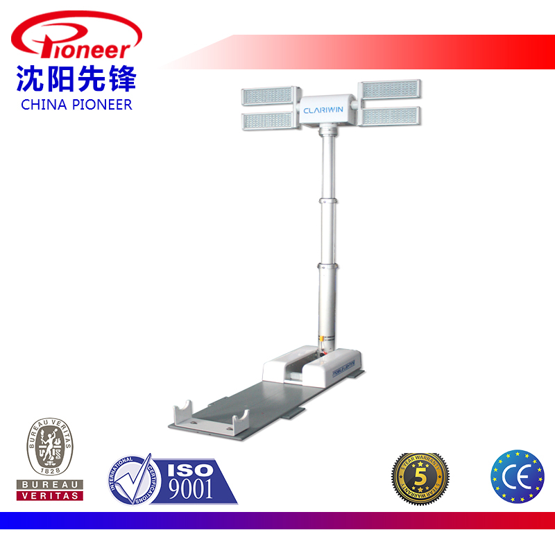 Vehicle-mounted balloon emergency led light tower