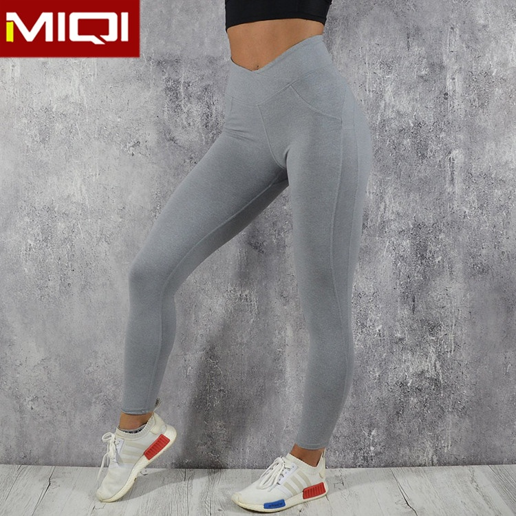 Miqi apparel Sports Apparel bodybuilding Fitness Athletic Apparel Manufacturers Wholesale Grey Women Yoga Pants for Women