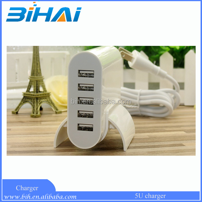 Wholesale 5port Intelligent USB Charger 50W 10A output power adaptors