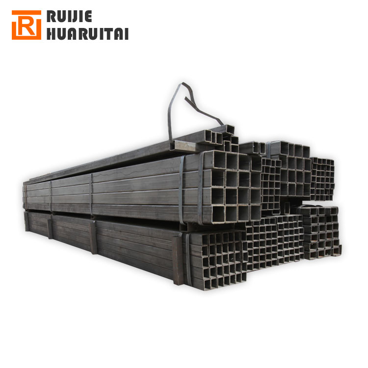 steel q235 large size square steel pipes 50x50 black square pipe q195 erw black welded steel pipe