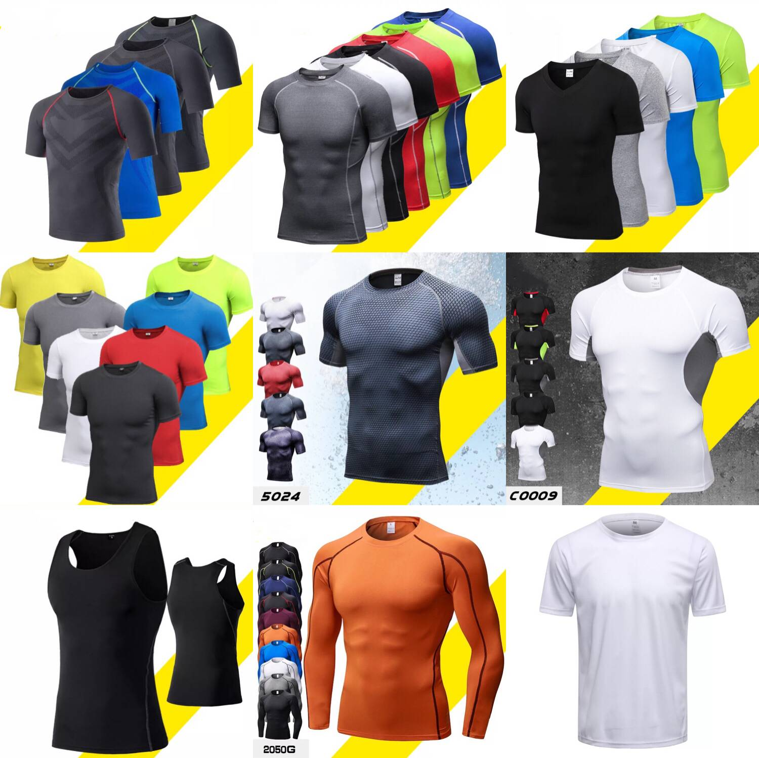 China Wholesale anti-fatigue Men's Clothing Gym Sport Wear Tight Men's sports t shirts
