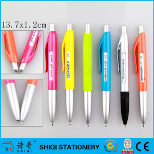 Promotional plastic rotating message ball pen