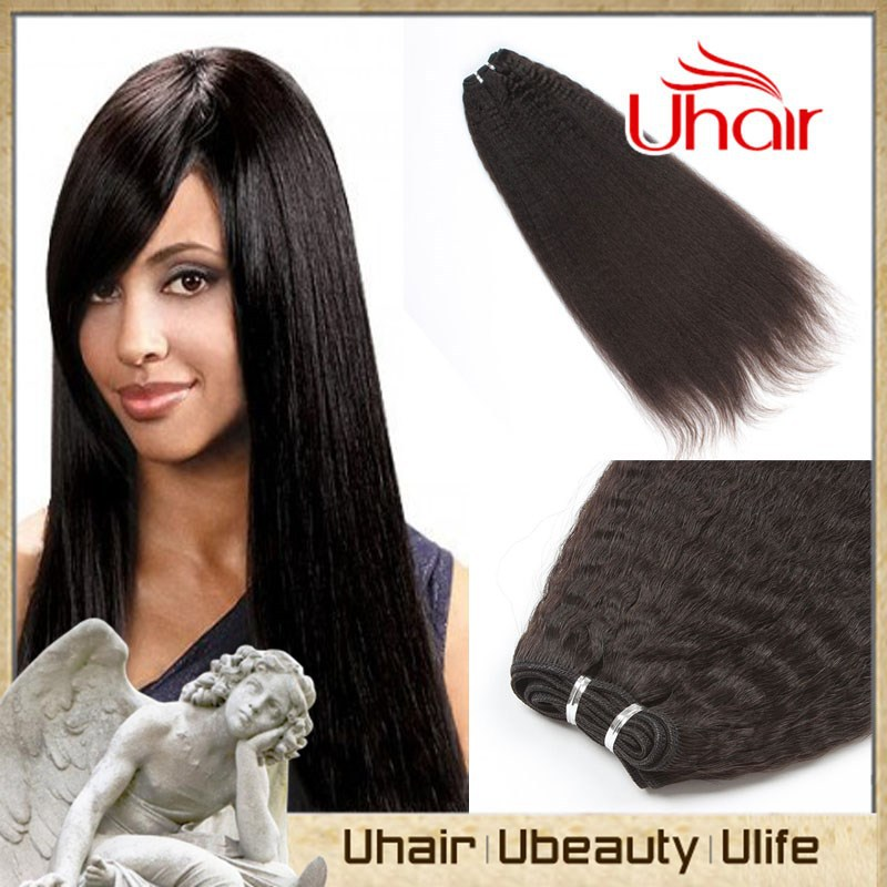 Fast Delivery Indian Hair Weave Yaki Straight Indian Hairstyle For
