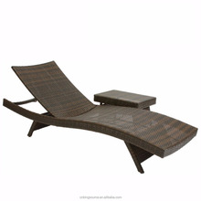 Foldable beach sun lounger with cushions outdoor PE rattan/wicker furniture KS-WL048