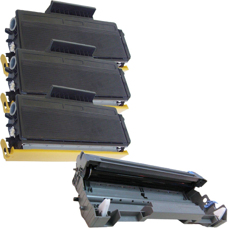 (1 Drum + 3 Toner) Inktoneram Replacement toner cartridges & drum for Brother TN580 TN550 DR520 DR-520 TN-580 TN-550 Set HL-5240 HL-5250 HL-5250DN HL-5250DNT HL-5280 HL-5280DW MFC-8460N MFC-8660DN