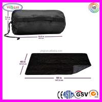C372 All-Purpose Outdoor Blanket Stadium Picnic Blanket Black Cheap Fleece Blankets in Bulk