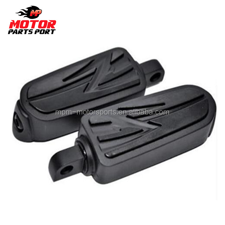 Custom high quality black universal motorcycle footrests