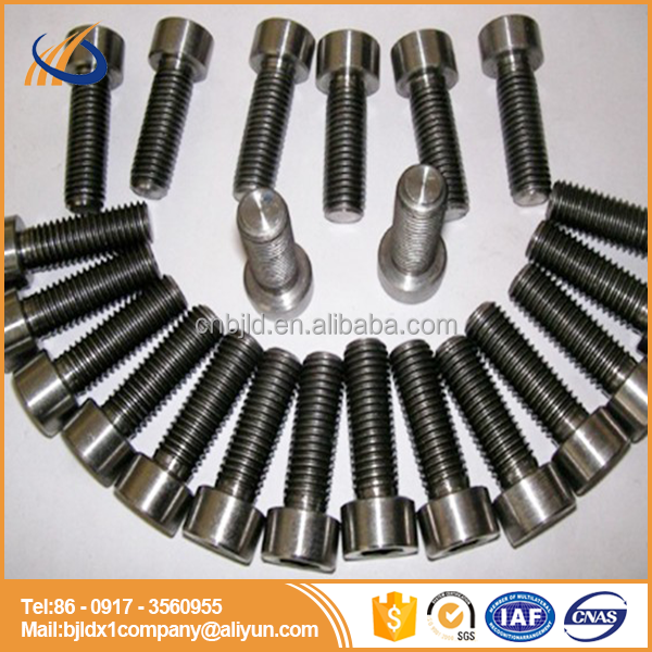 Gr5 M5 and M6 Tapered /allen/countersunk /button torx /socket head cap Titanium bolts/screws for bicycle