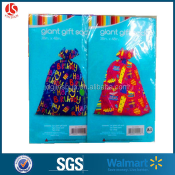 3848quot Chrismas Gift Bags Decorative Santa Sacks Large Birthday Plastic