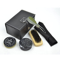 Hot Selling Gentlemen Durable Shoe Shine Kit With PU Box
