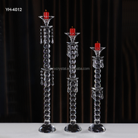 3 ball bead pillar crystal candle holder with a set wholesale