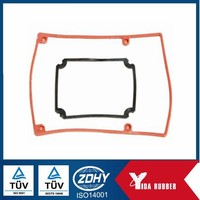 RoHS and Reach approved rectangular silicone rubber seal gasket for medical machine