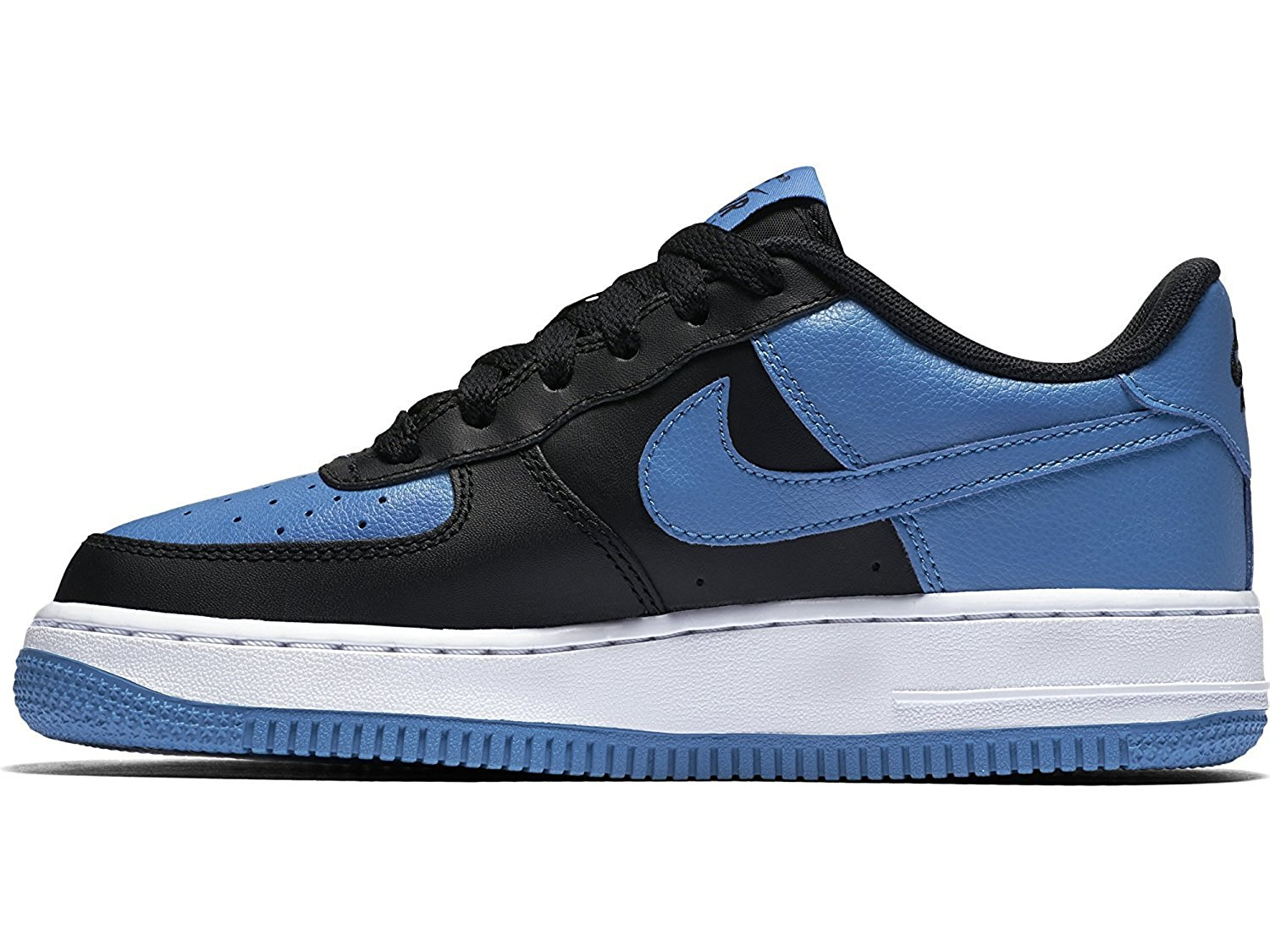 the best attitude df728 d5407 Get Quotations · Nike Boys Air Force 1 Low Basketball  Sneaker-BlackStarBlue-White