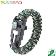 New arrival Multifunctional unity 550 paracord survival bracelet plates