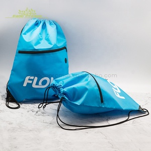 2019 Wholesale promotional waterproof 210d/ 420d nylon gym drawstring backpack bag