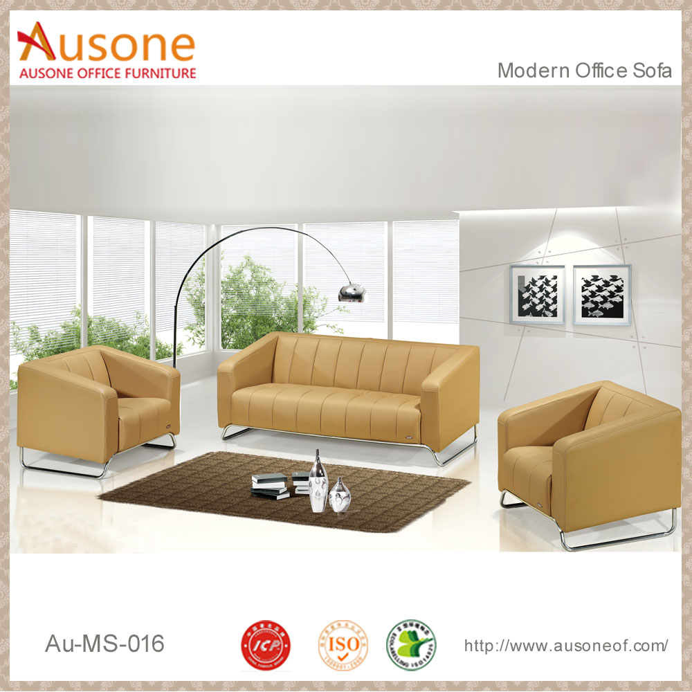 China Wholesale Cheap Price High Quality Steel Frame Yellow Leather ...