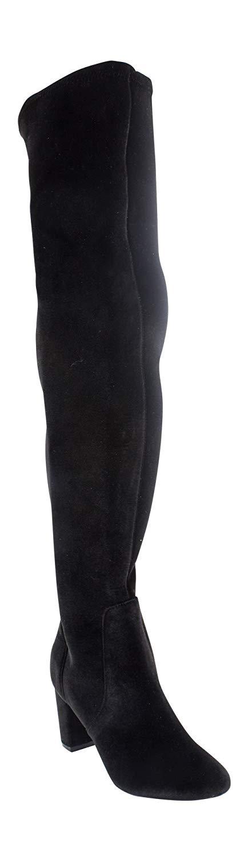 24e42056b LFL Lust Life Womens Lure Velvet Almond Toe Over Knee Fashion Boots, Black,  Size 7.5 B(M)