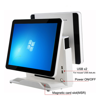 Restaurant POS 15 inch 12 inch dual screen android / window TFT capacitive touch screen All in one wifi 3G/4G