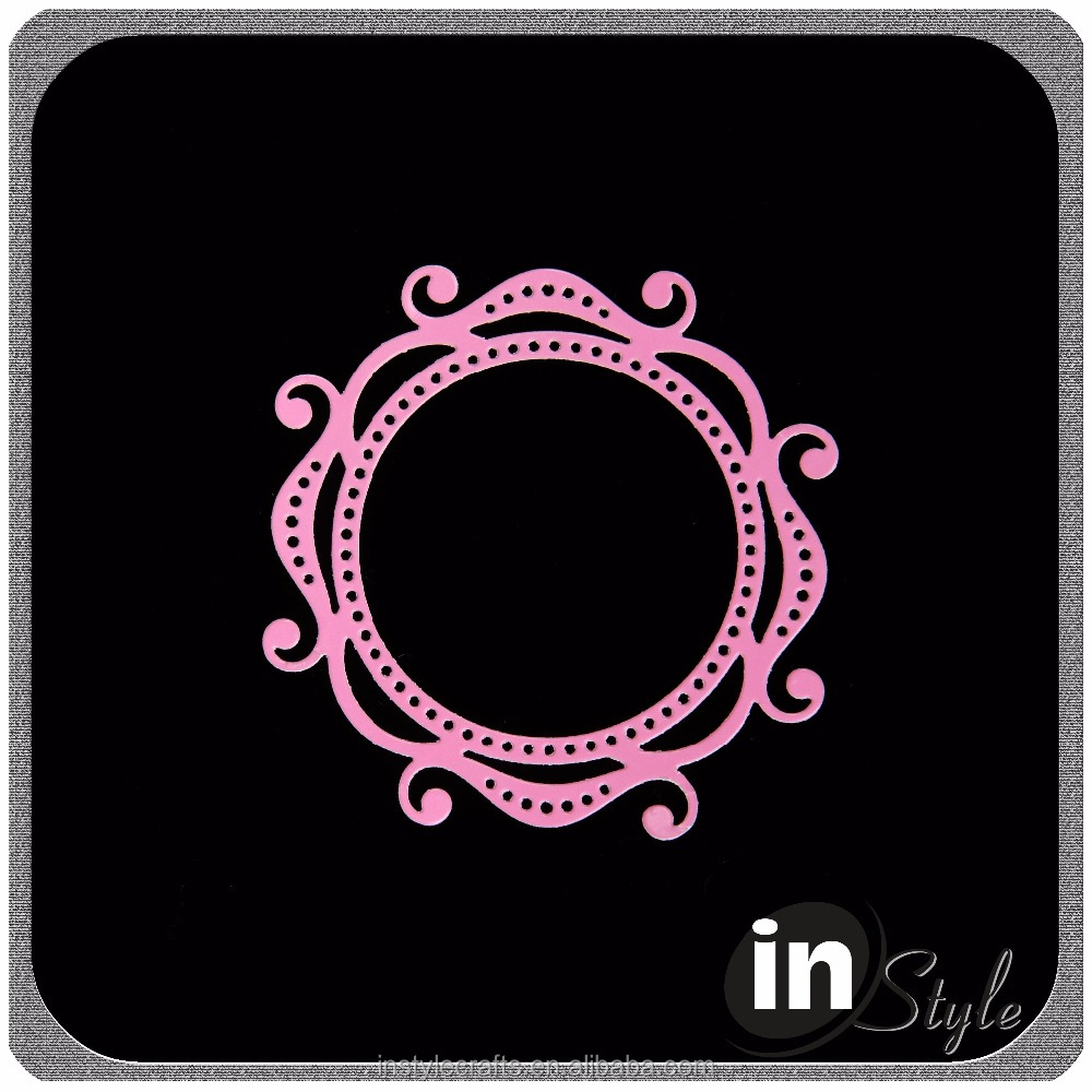 beautiful shaped craft die, die cut stencil for scrapbooking and card making
