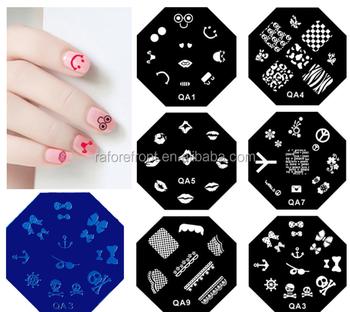 Nail Stamping Template Octagon Stencils Nail Art Image Polish Printing  Manicures Stamping Template Plate Qa Series - Buy Nail Stamping,Nail Art