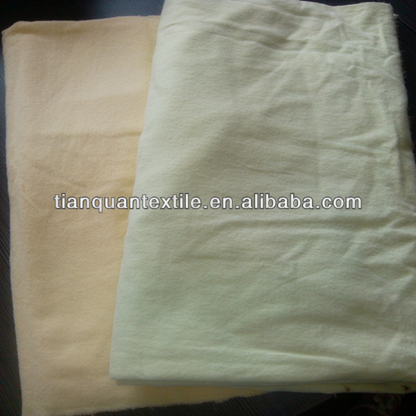 "100% cotton white yellow dyed flannelette factory 20x10 40x42 35/36"" both sides brushed 150 gsm"