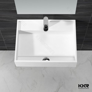 Factory price Wall mounted square bathroom sink
