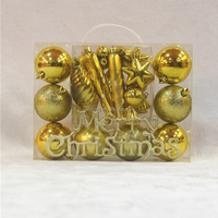 Christmas Decoration Supplies 22pcs Shiny Christmas Tree Hanging Balls Xmas New Year Home Party Wedding Ornament
