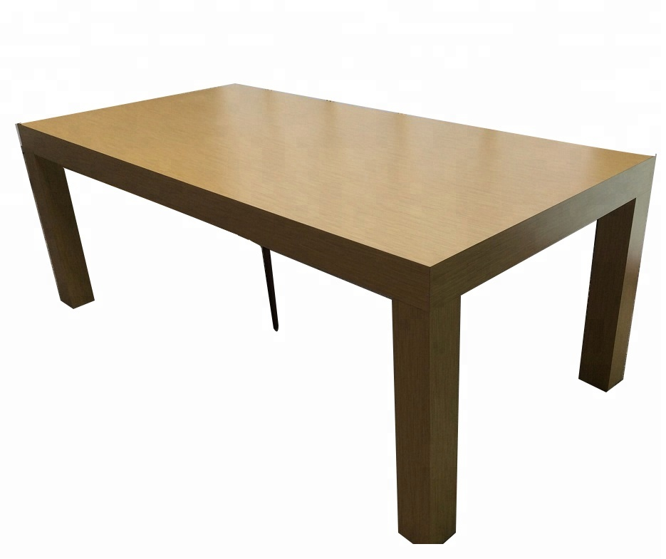 Customized apple store wood display table with 4 legs table top display stand for <strong>retail</strong>
