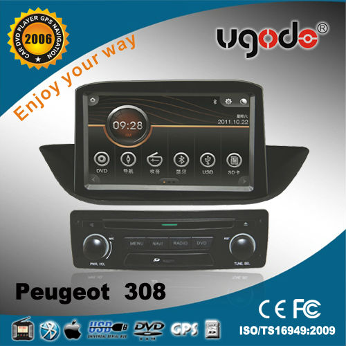 UGO for Peugeot 308 Car DVD GPS Built in Bluetooth Radio and GPS