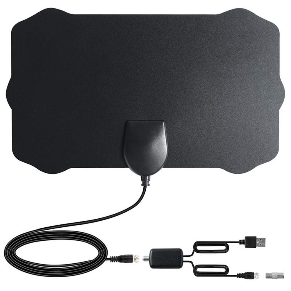 Rundaotong-US 120 Miles Long Range TV Antenna, Amplified HD Digital TV Aerial Support 1080p & All Older TV's Indoor Powerful HDTV Amplifier Signal Booster