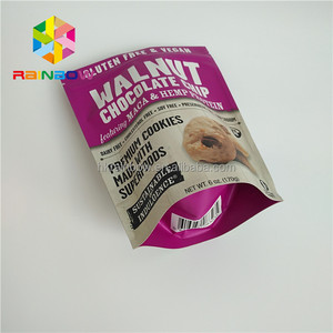 aluminum foil custom printed mylar seed packet/whey powder packaging bags