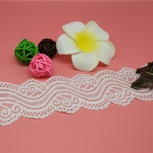 Floral Elastic Lace trim for Clothes, Crafts, Decorating, Hair Bow Making and Gift Wrapping