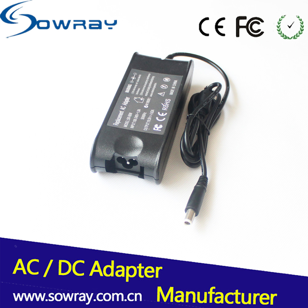 OEM charger for dell laptop ac adaptor for Dell laptop adapter with CE RoHS 19.5V 4.62A 90W