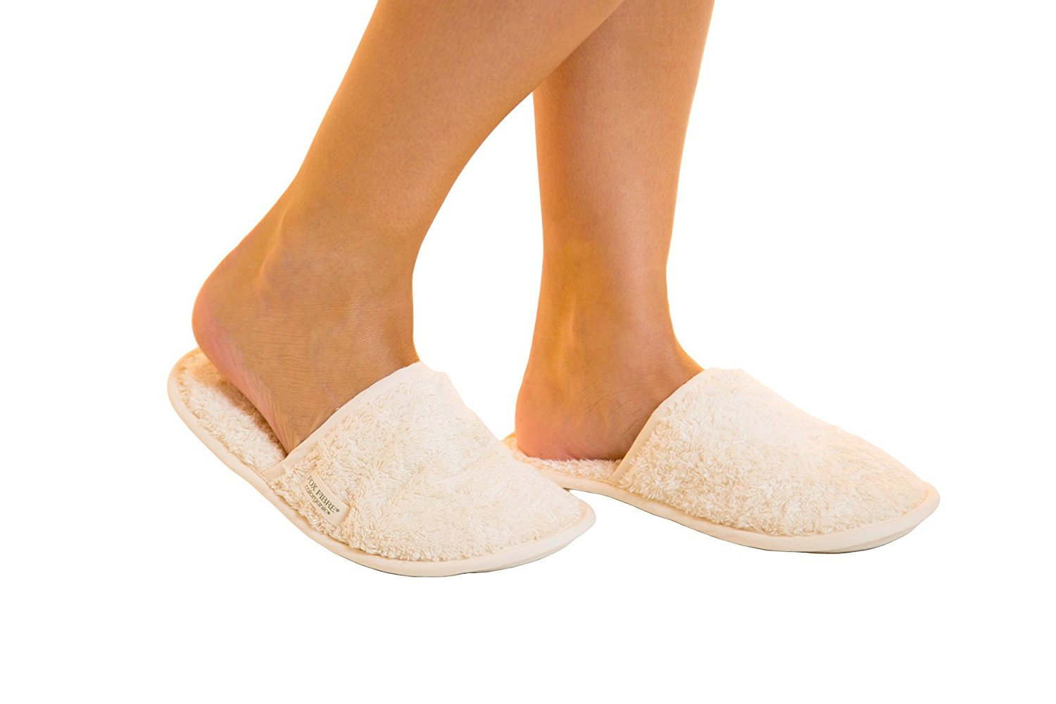 Organic Cotton Colours Certified 100% Organic Undyed Hypoallergenic Cotton Unisex Indoor Home Slippers