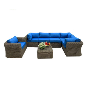 China canton outdoor furniture pe Classical round rattan garden sofa