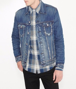 Direct factory clothing Men Trucker Denim Jacket