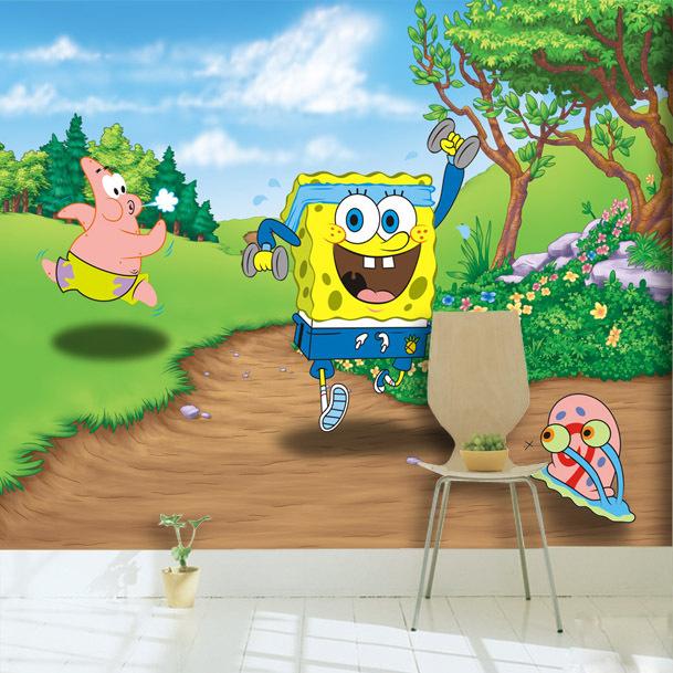 Popular Spongebob Wall Mural-Buy Cheap Spongebob Wall