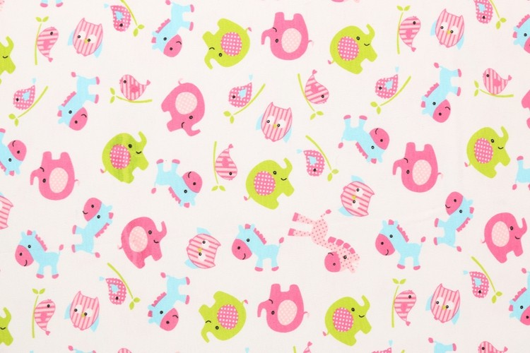 Wholesale 100 cotton cheap custom elephant animal for Cheap kids fabric