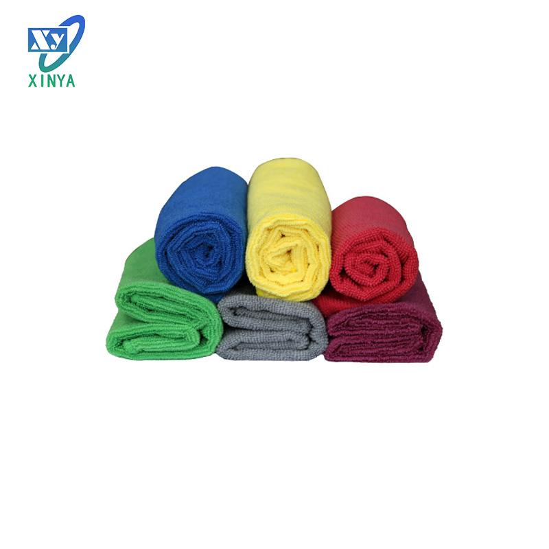 Customized Color household microfiber fabric for bath towel