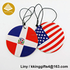 Custom logo national flag car air freshener pure ocean perfume Clean air favorite Suitable for home / car/ etc air freshener