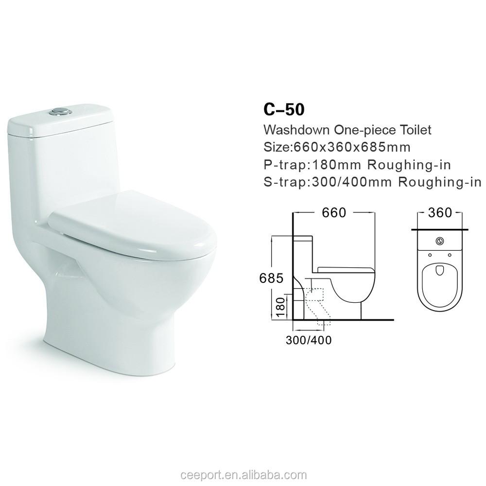 Bunte keramik sitzen toilettenschüssel boden montiert washdown p falle