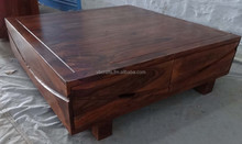 sheesham wood modern coffee table