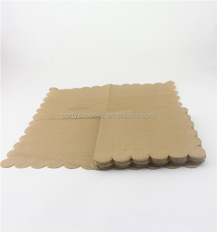 Party Tableware Pack Brown Kraft Retro Dinner Plates Small 7inch Snack Dish Kraft Paper Plates Napkins & Party Tableware Pack Brown Kraft Retro Dinner Plates Small 7inch ...