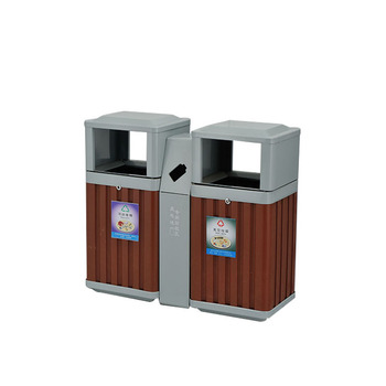 Outdoor Solid Wood Stationary Litter Bins For Park Buy Stationary Litter Binsrecycle Binwaste Bin Product On Alibabacom