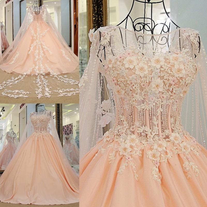 Ls67889 Pink Appliques Long Satin Gothic Lace Up Evening Dresses ...