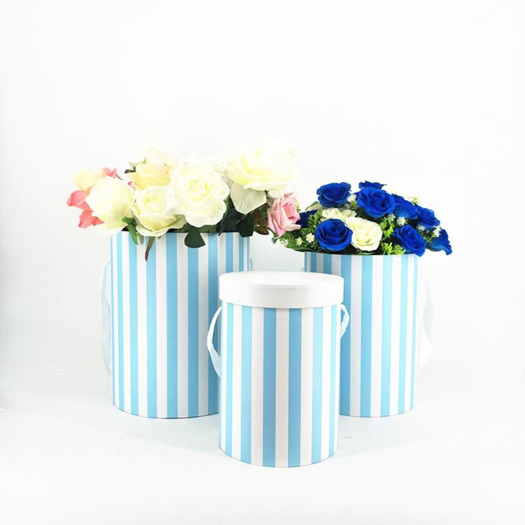 custom paper round flower box packaging for flower packing