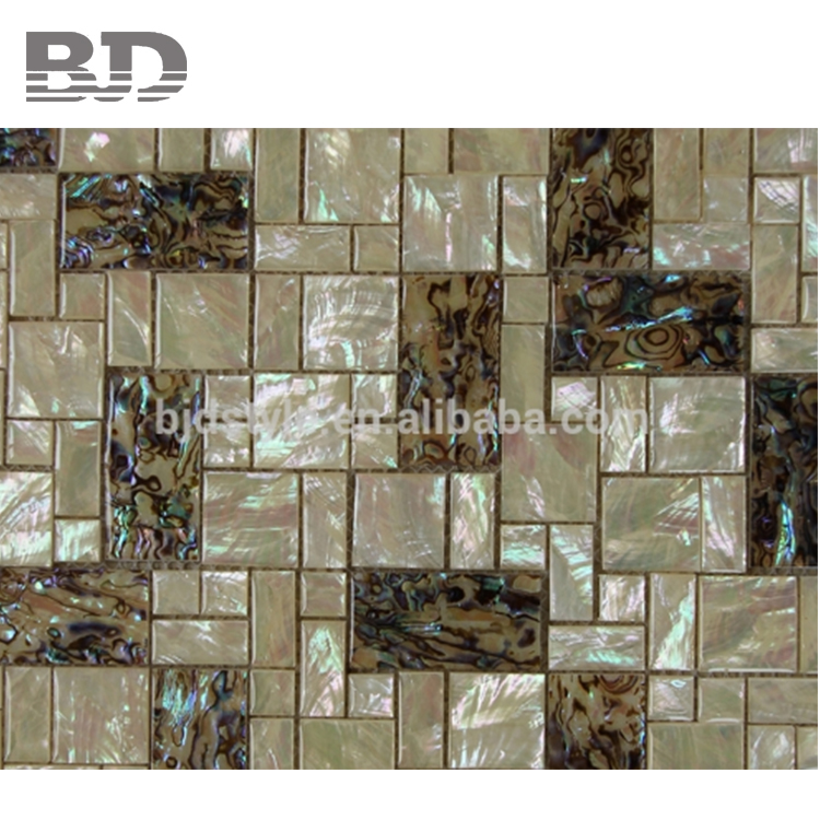 China's Supply Mother Of Pearl Glass Mosaic Tile