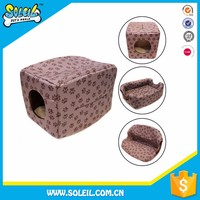Different Colors Portable Polyester Soft Fabric Dog House For Sale